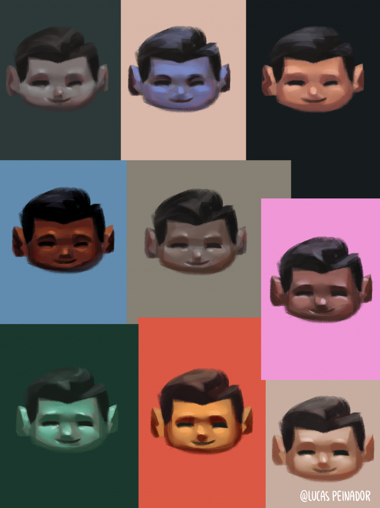 Reference Image with different skin colors